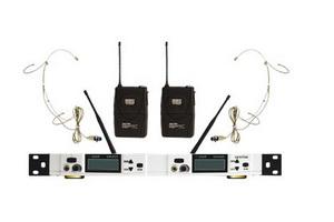 U段双头戴双接收无线话筒EH485