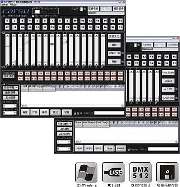 USB-DMX-V2.0凯士灯光控制系统软件